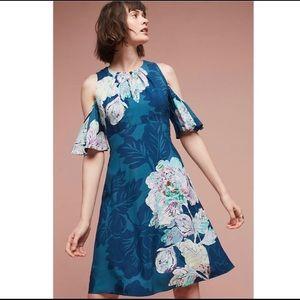 Anthropology Maeve Elia Blue Floral Midi Dress 10